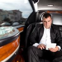 passenger in a limo